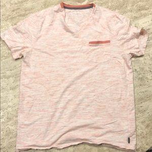 Express pink V neck